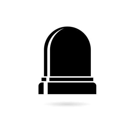 Black Flasher logo, Siren icon, Alarm siren