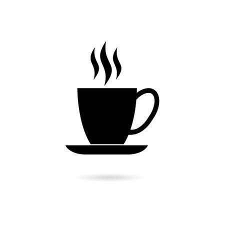 Black Coffee cup icon, Coffee cup logo, Coffee time, Coffee cup