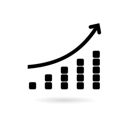 Black Growth chart icon or logo