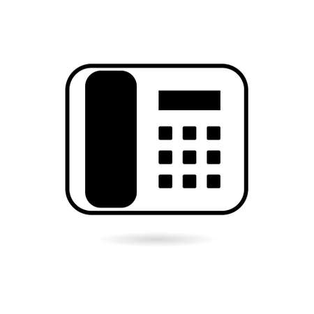 Telephone icon  , Phone icon in flat style