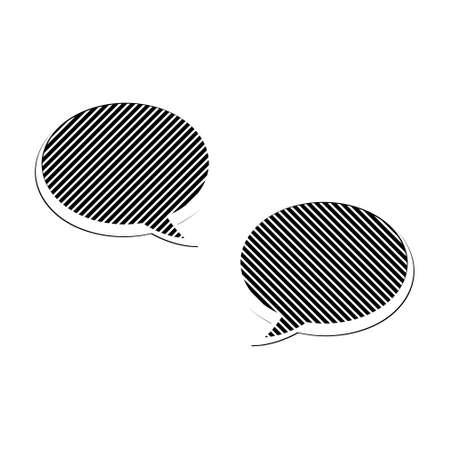 Black Message Bubbles,Chat Icon, Dialogue .