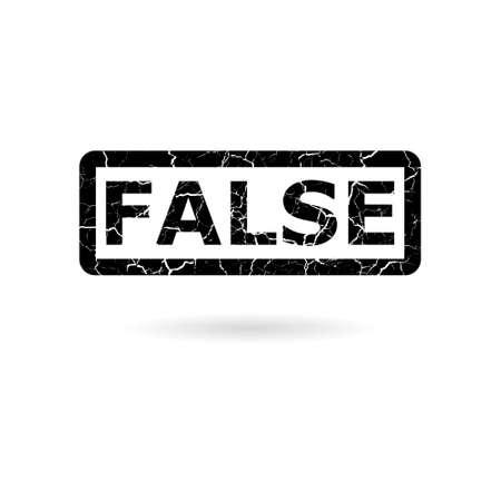 Black false icon