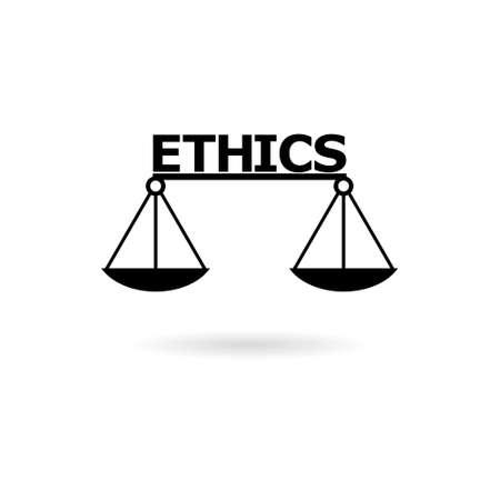 Black Ethics word, Ethics text, Ethics icon  イラスト・ベクター素材