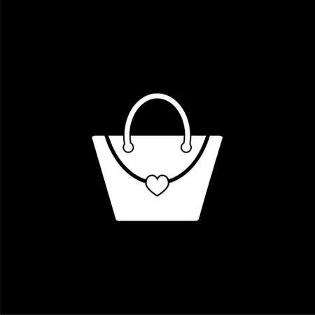 Shopping bag icon or logo on dark background