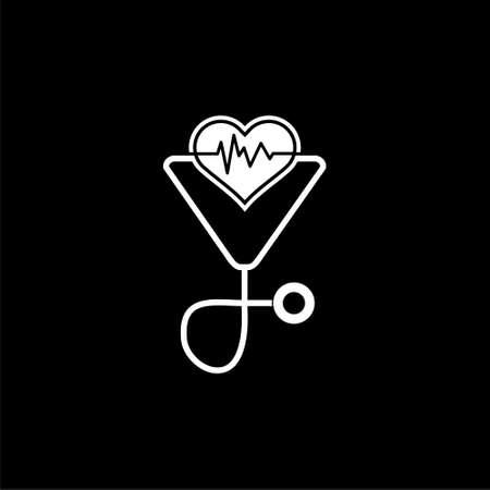 Health Medical Care icon or logo on dark background Ilustrace