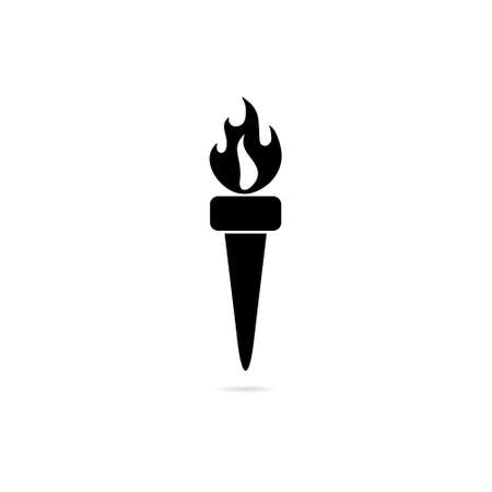 Torch icon or logo, Burning torch color logo Ilustrace