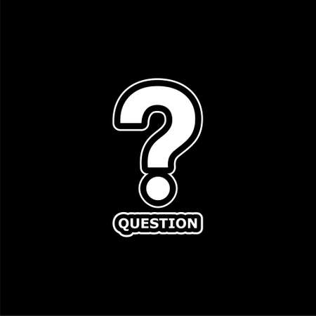 Question icon or logo on dark background