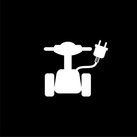 Electric scooter symbol, Scooter icon or logo on dark background