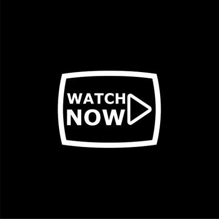 Video button, Play button, icon or logo on dark background