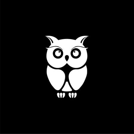 Owl Logo Template, Owl icon on logo on dark background