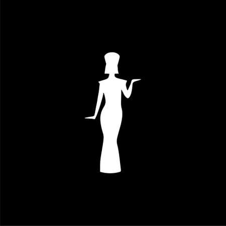 Egyptian silhouette icon Ilustração