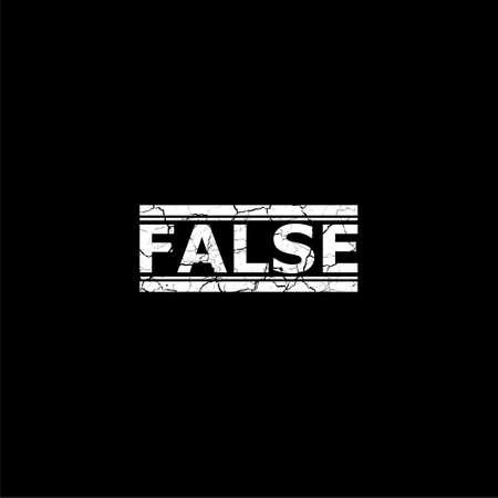 False icon or logo on dark background