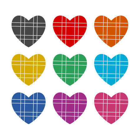 Heart icon, Heart sign, color set