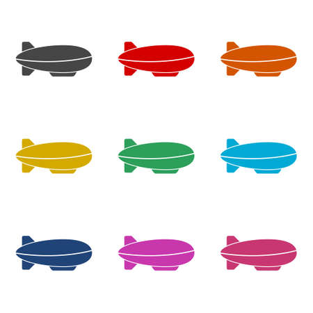 Airship icon or logo, color set