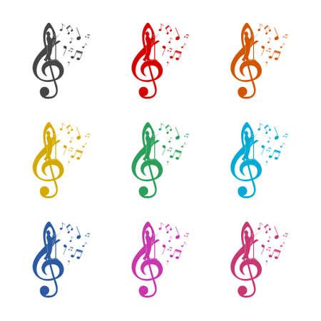 Choir guide  icon, color set