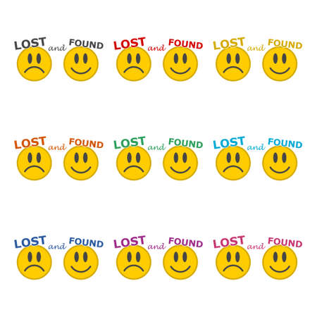 Lost And Found icon or logo, color set