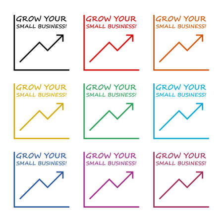 Grow Your Small Business icon or logo, color set Vettoriali