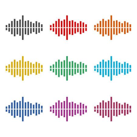 Audio wave icon  , Modern Sound Wave, color set
