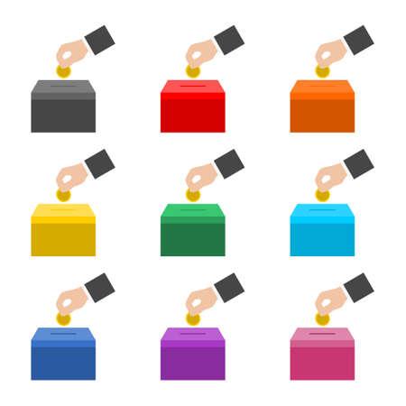 Money donation icon  , color set Ilustração