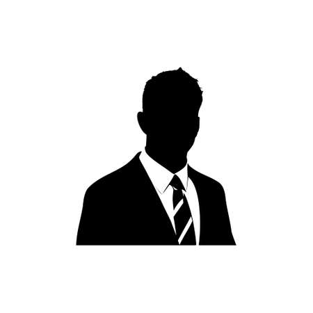 Silhouette man on a white background