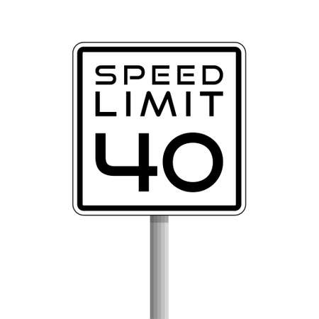 Speed Limit, Road sign