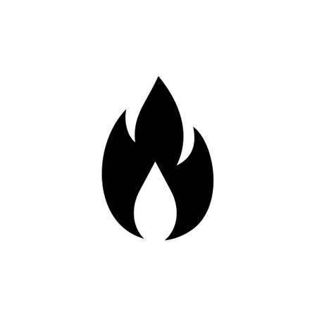 Gas Flame Icon or Logo 일러스트