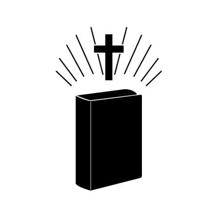 Holy Bible Flat Icon or logo