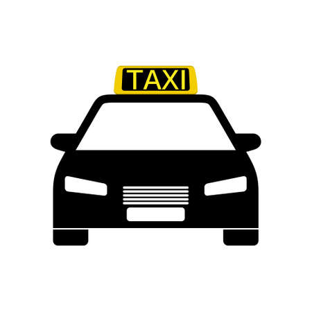 Taxi icon or logo, car icon