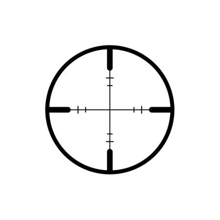 Crosshair icon or logo on white background 스톡 콘텐츠 - 155150762