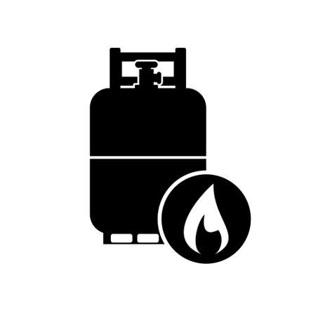 Camping gas bottle, Gas Bottle Icon or logo