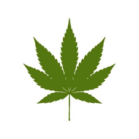 Marijuana leaf icon, Cannabis leaf icon or logo