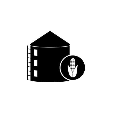 Silos storage icon or logo