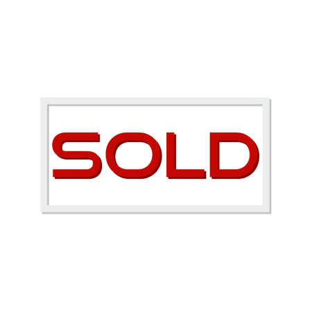 Sold red sign, icon