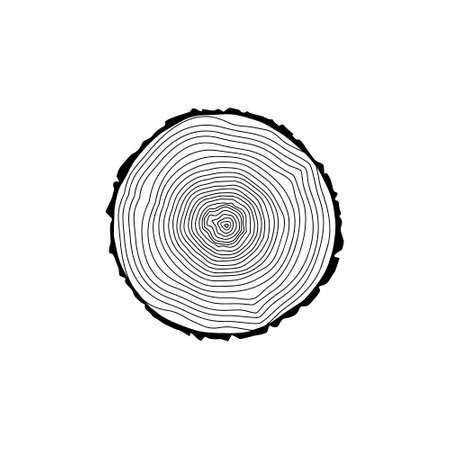 Stump icon Black tree rings icon Vector Illustratie