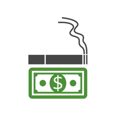 Cost Of Smoking icon, sign