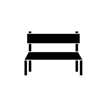 Wooden Park Bench icon or logo
