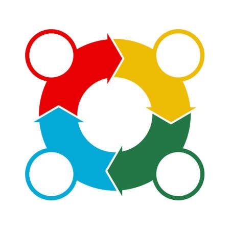 Circular Process Flow Arrows, icon