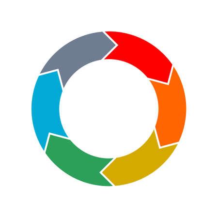 Circular Process Flow Arrows, icon, or sign