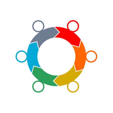 Circular Process Flow Arrows, icon,   sign