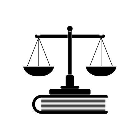 Scales of justice and book icon