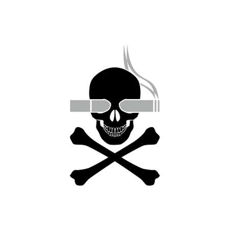 Smoking kills or Stop smoking conceptual, Smoking kills icon or logo