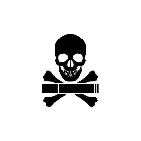 Smoking kills or Stop smoking conceptual, Smoking kills icon Ilustrace