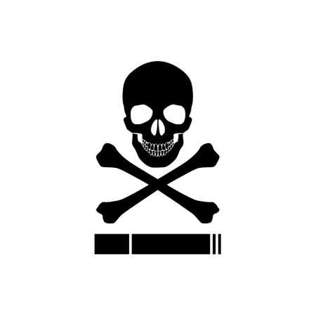 Smoking kills or Stop smoking conceptual, Smoking kills icon Vektorgrafik