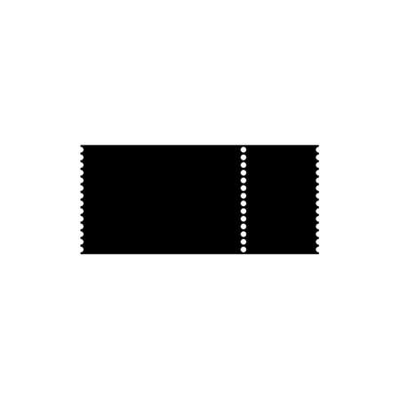 Blank black ticket icon or sign
