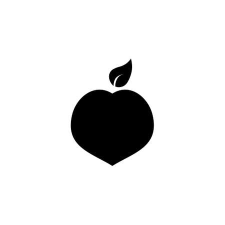 Simple Isolated peach illustration on white