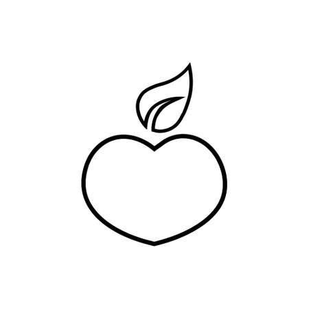 Simple Isolated peach illustration on white Stock fotó - 155369323