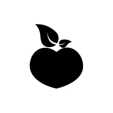 Simple Isolated peach illustration on white Stock fotó - 155369351