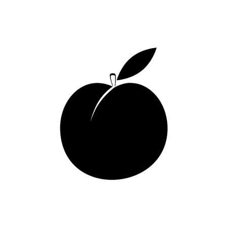 Simple Isolated peach illustration on white Stock fotó - 155369399