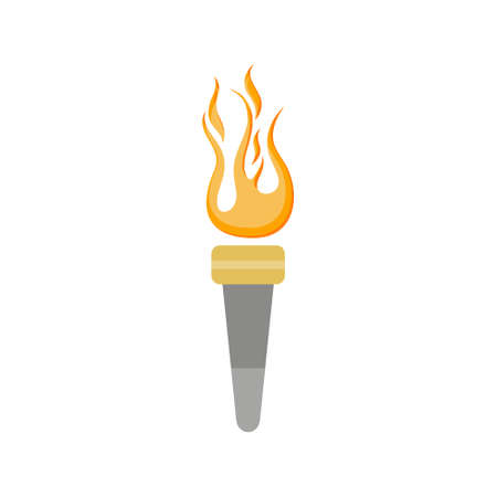 Torch symbol, Torch icon or logo Illusztráció