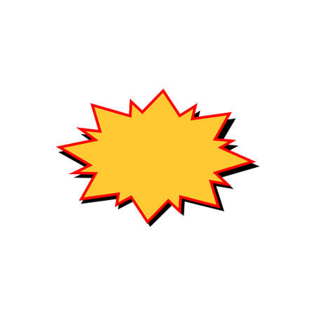 Comic yellow burst on white background